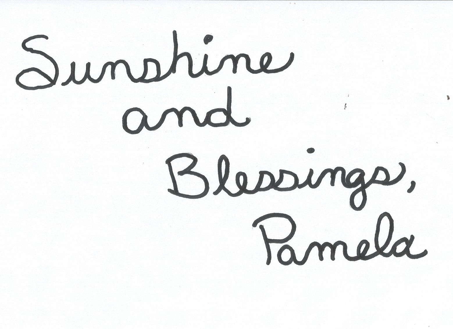 Sunshine and Blessings