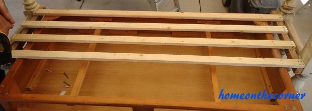 wood slats underneath