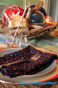 july tablescape simplicity