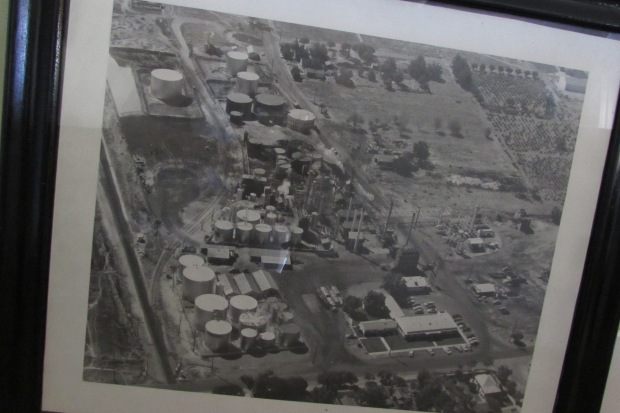 Old Black And White Aerial Picture