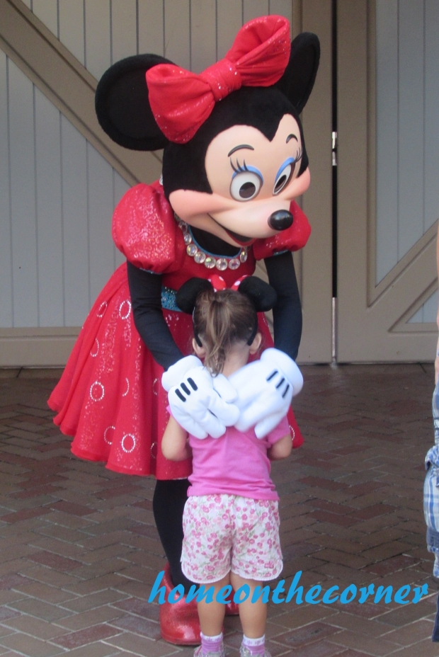 Meeting Minnie Disneyland
