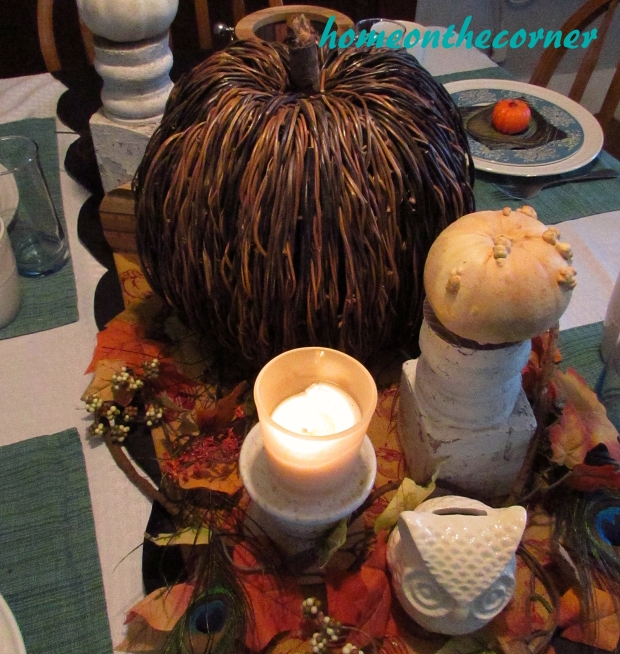 Fall Tablescape Candle 2015