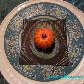 Fall Tablescape Placesetting Pumpkin 2015