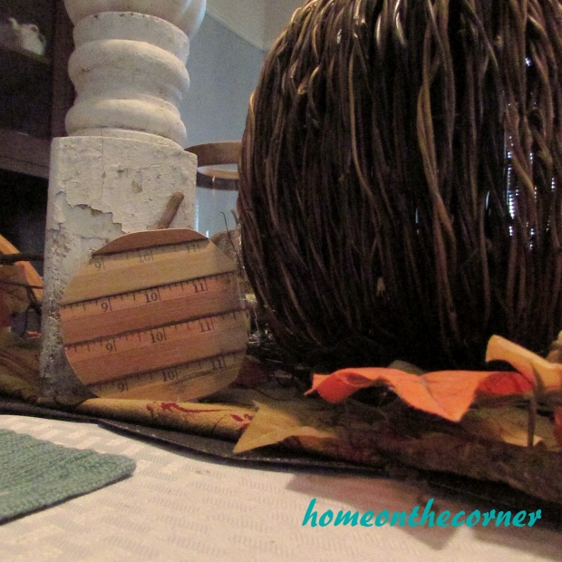 Fall Tablescape Ruler Pumpkin 2015