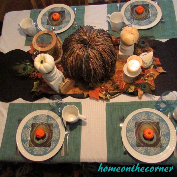 Fall Tablescape Top View 2015
