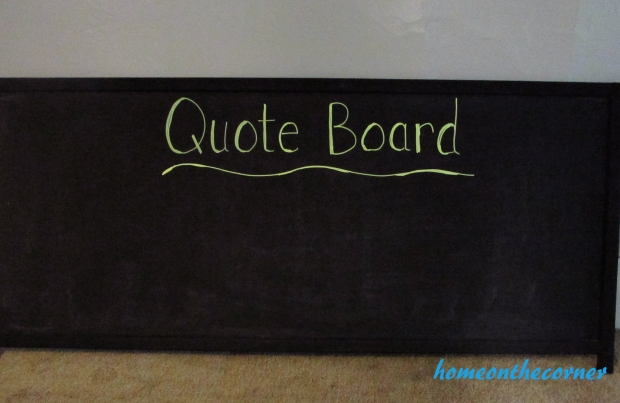 Quote board chalk board