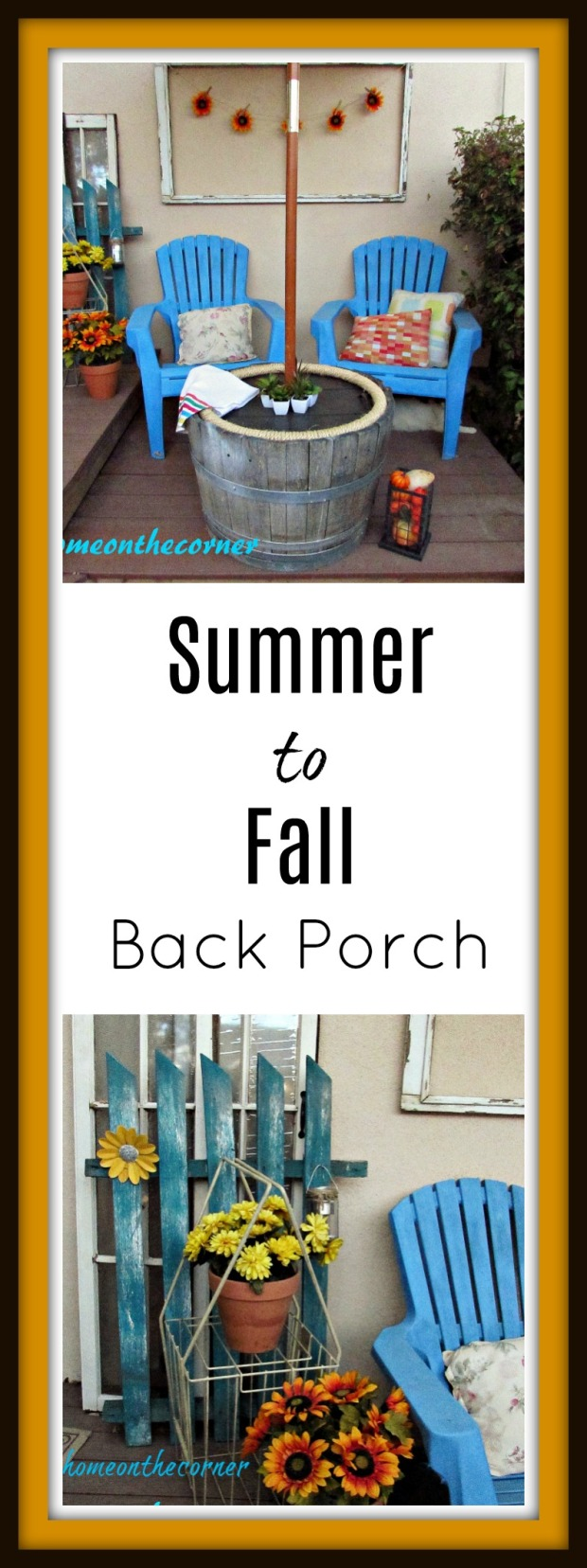Summer to fall Back Porch Title