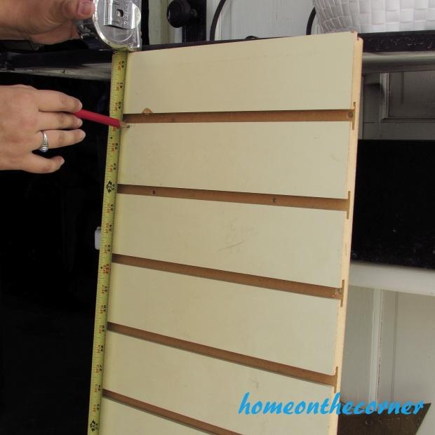 Tool Cupboard Slat Board Cut