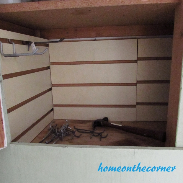 Tool Cupboard Slat Board Install