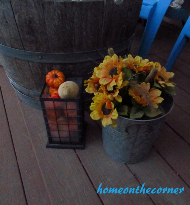 Transitional Back Patio Pumpkins 2015