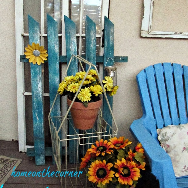 Transitional Back Porch Flowers 2015