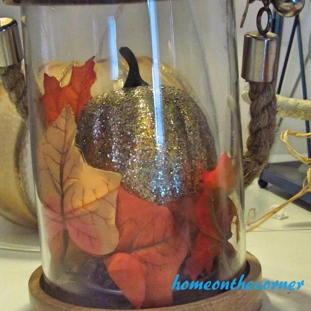 2015 Home Tour Fall Glittery Pumpkin