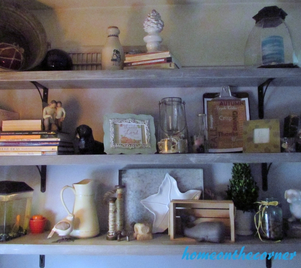 2015 Home Tour Fall Open Bookshelves