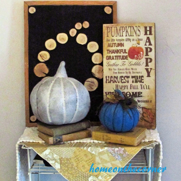 2015 Home Tour Fall Table Pumpkins