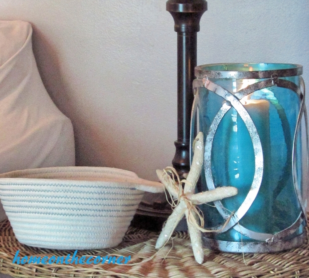 2015 Home Tour Fall Wicker Table Starfish, Candleholder
