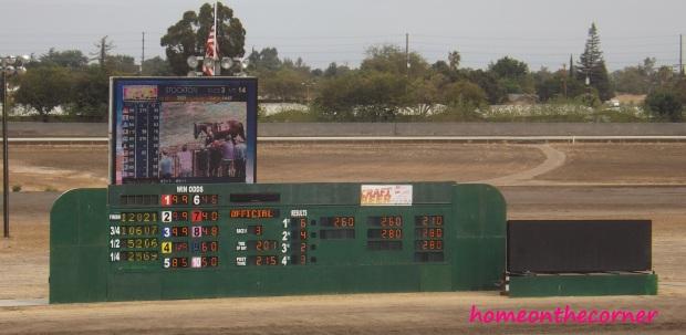 horse race scoreboard
