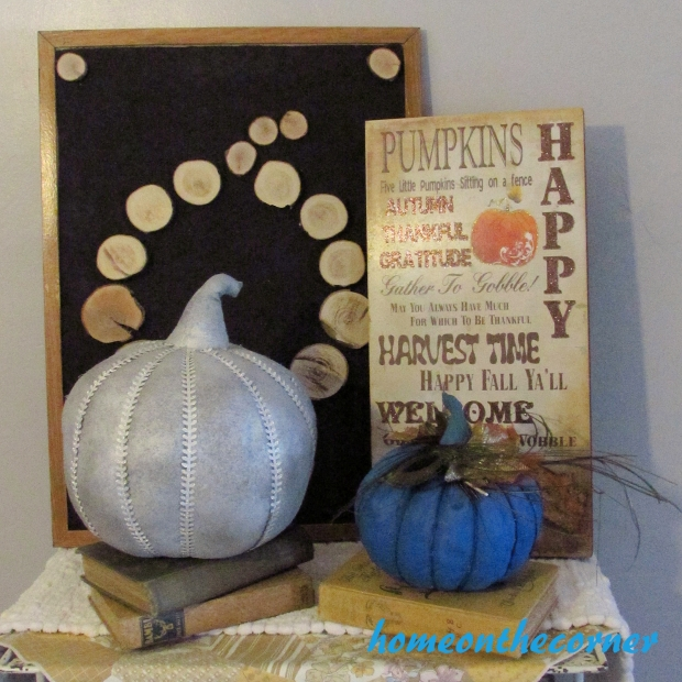 Fabric Pumpkin Makeover Finished