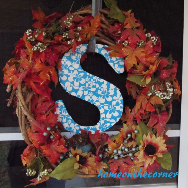 fall porch wreath 2015