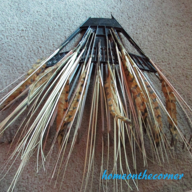 Fall Rake Makeover Feathers