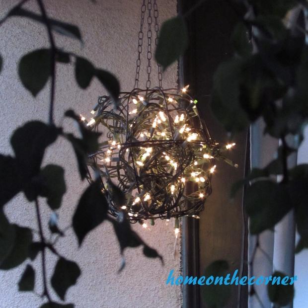 Outdoor Hanging Plant basket light