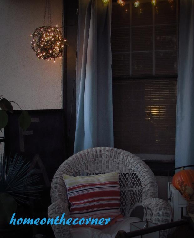 outdoor hanging plant basket porch light