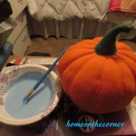 small fabric pumpkin makeover
