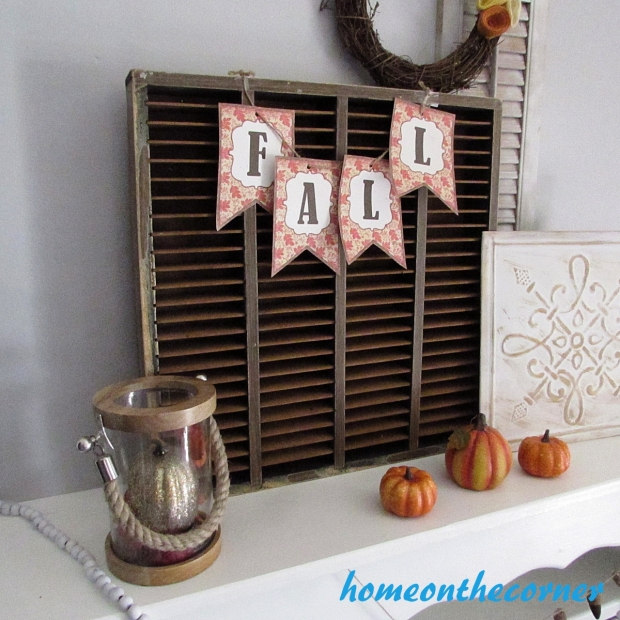 Faux Fireplace Fall Decor