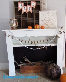 Faux Fireplace Reveal