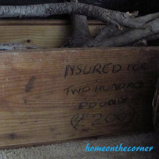 Faux Fireplace Wood Box