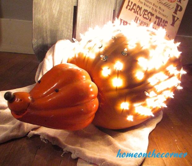 hedgehog pumpkin halloween