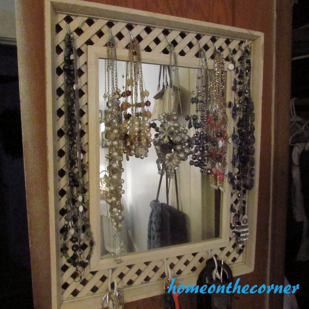 jewelry mirror frame