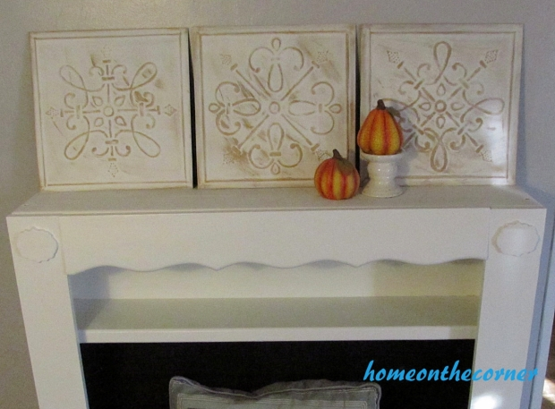 metal medallion fall decor