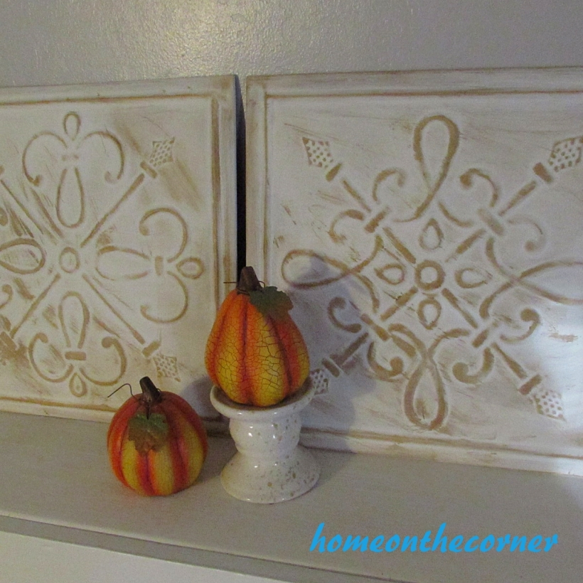 metal medallions mantel decor