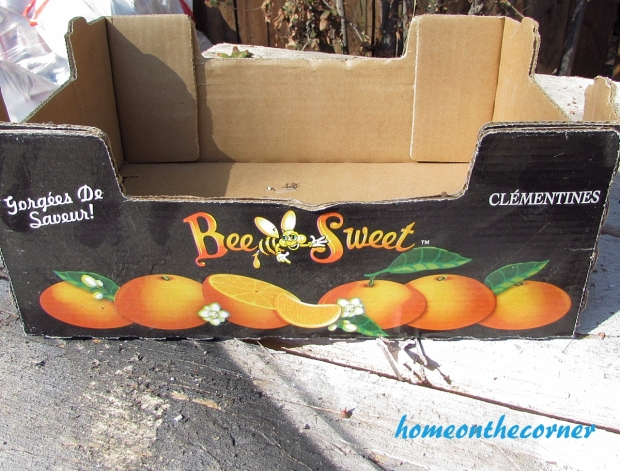 Upcycle clementine box