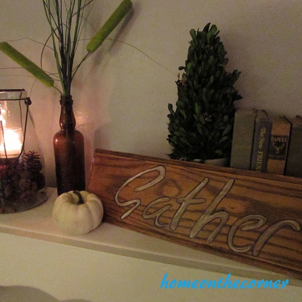 Wood Drawer Front Gather Sign