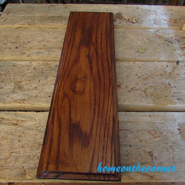 Wood Drawer Front Varnished