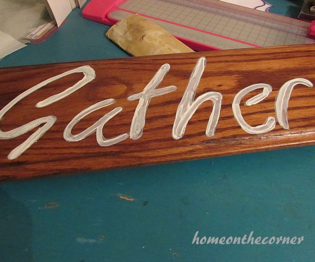 Wood Gather Sign Paint