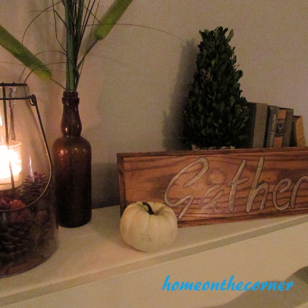 Wooden Drawer Front Gather Sign
