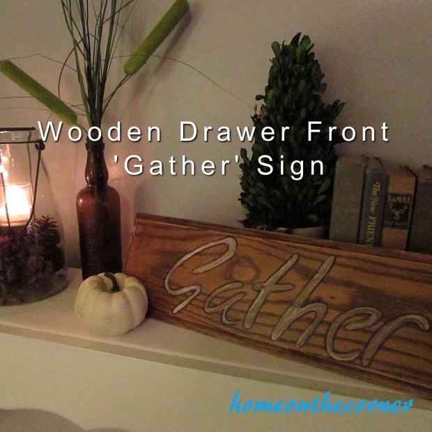 Wooden Gather Sign Title