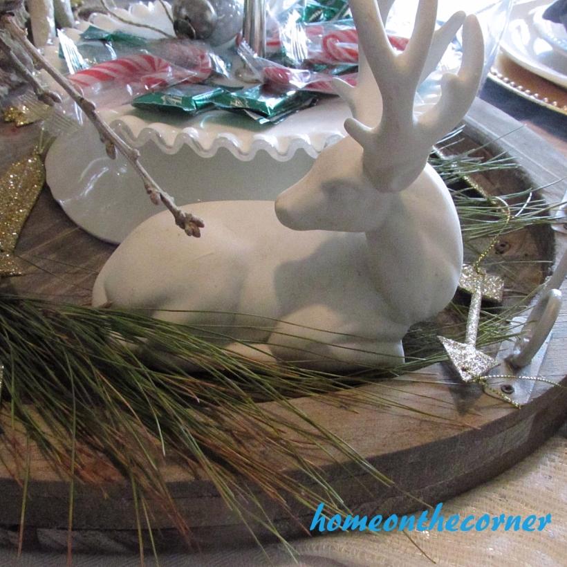 Dining Room Christmas 2015 White Deer