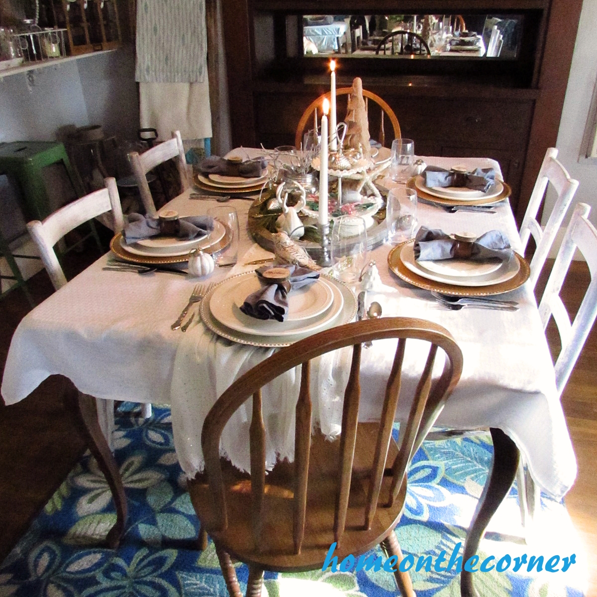 Dining Room Christmas Tablescape 2015