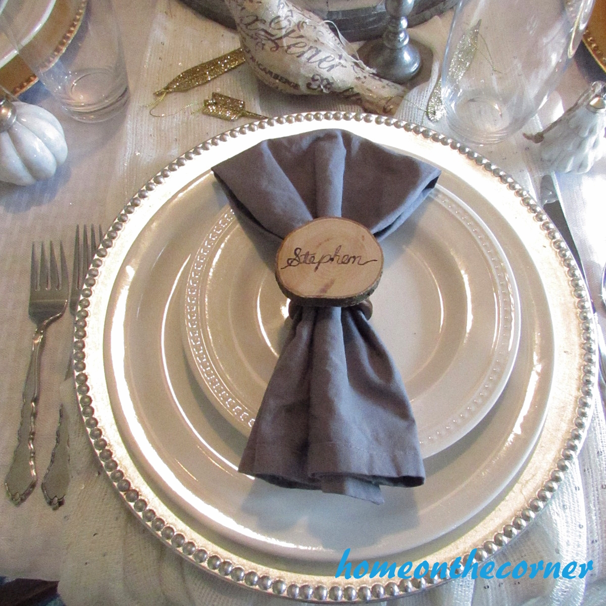 Dining Room Silver Place Setting 2015