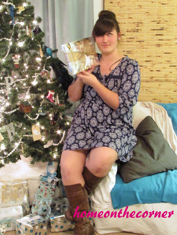 Fashion 2015 Lauren Blue Dress and Boots