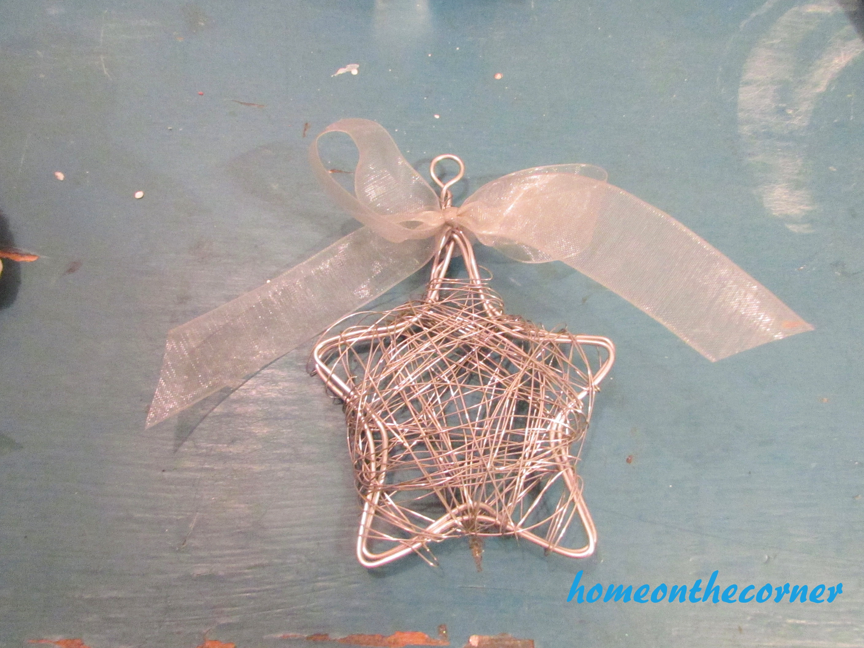Star Wire Finished Christmas Ornament 2016