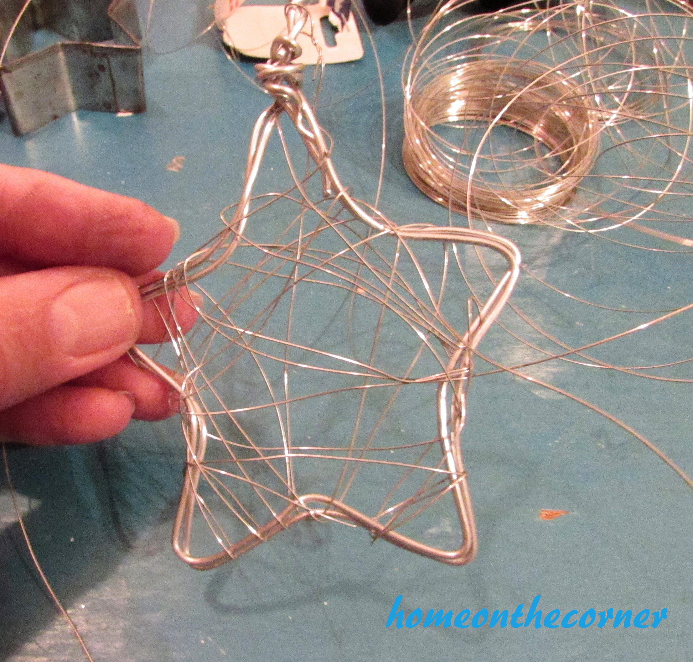 Star Wire Wrapping Christmas Ornament 2016