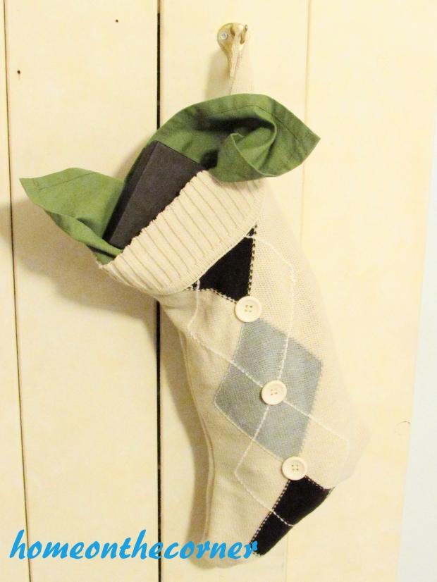 sweater stocking tutorial finished