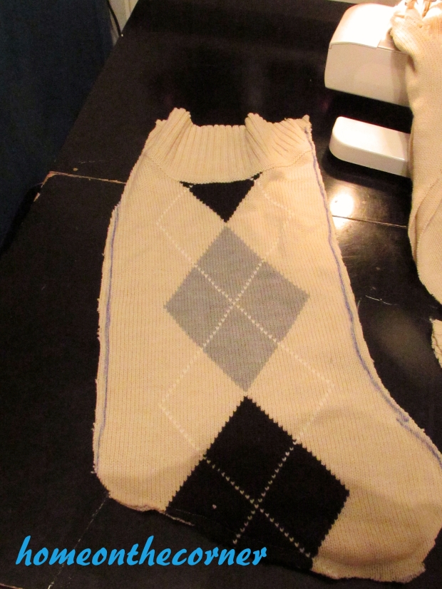 Sweater Stocking Tutorial Inside Out