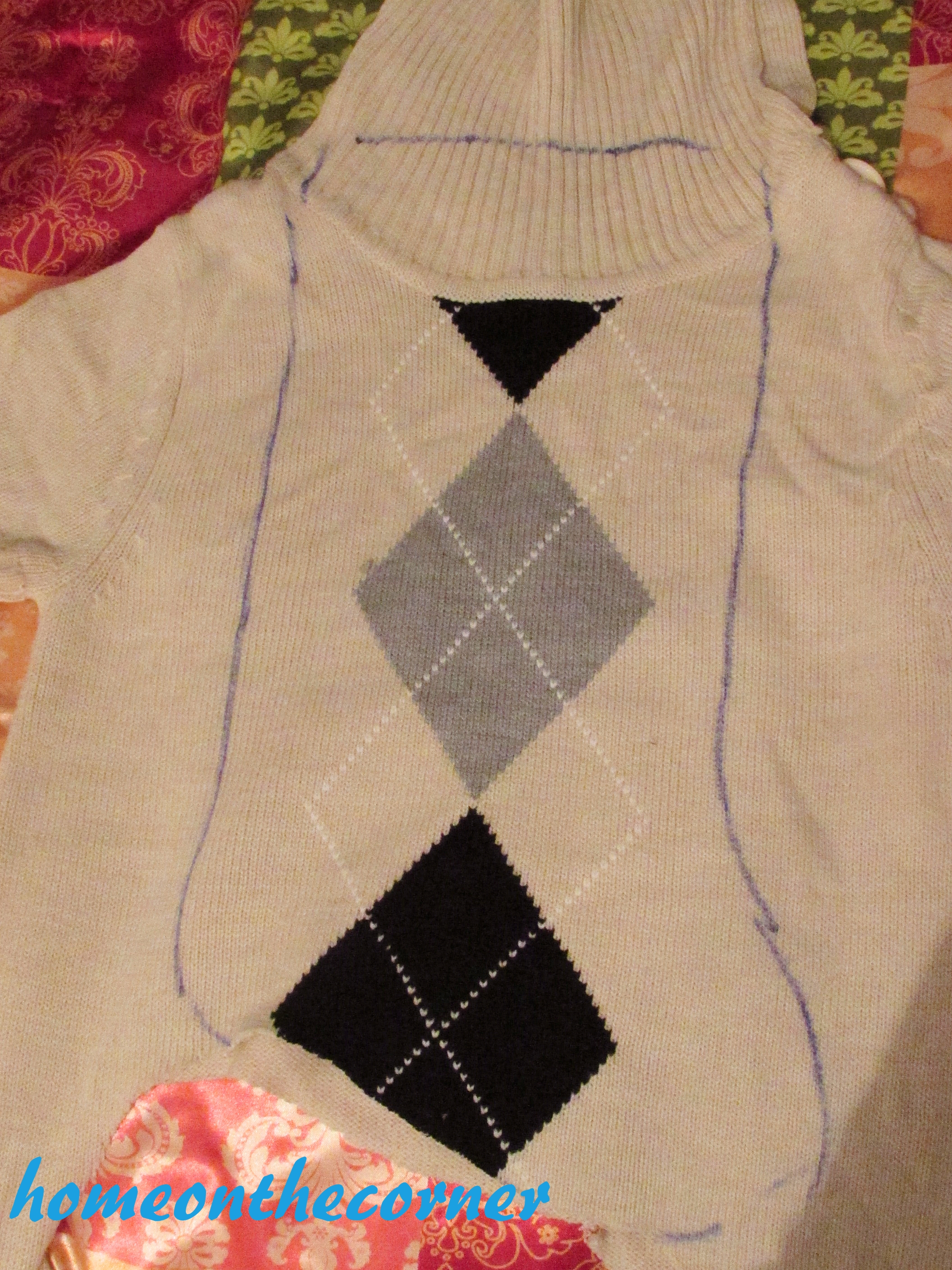 Sweater Stocking Tutorial Outline