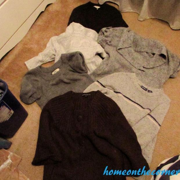 Sweater Stocking Tutorial Pile