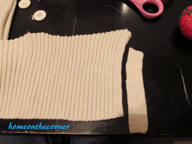 Sweater Stocking Tutorial Ribbing